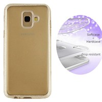 BackCover Layer TPU + PC voor Samsung A6 Plus 2018 Goud