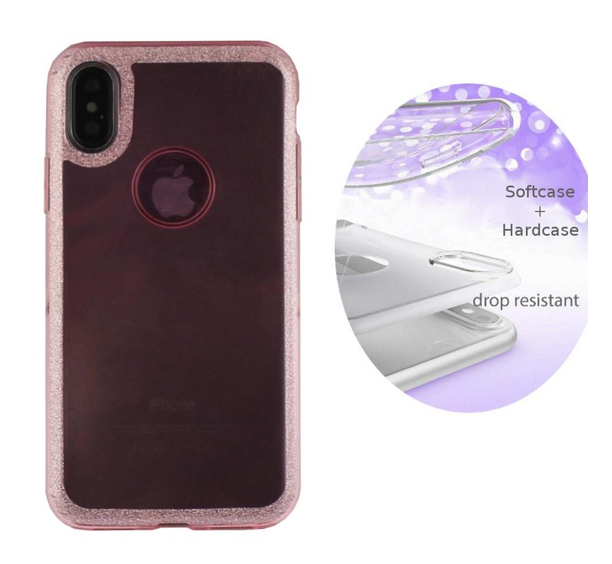 BackCover Layer TPU + PC Apple iPhone X - Xs Roze