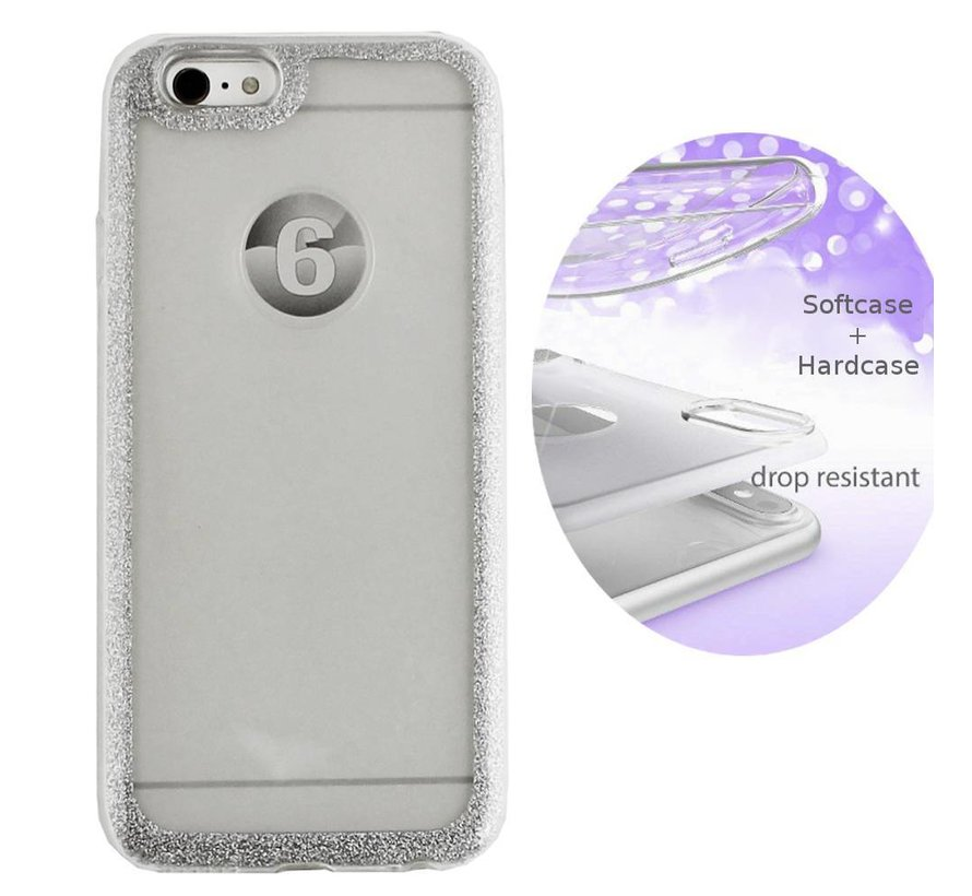 BackCover Layer TPU + PC Apple iPhone 8 Plus - 7 Plus Zilver