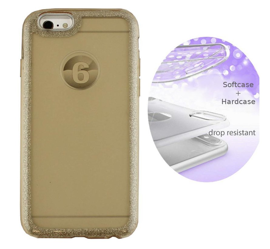 BackCover Layer TPU + PC Apple iPhone 8 Plus - 7 Plus Goud