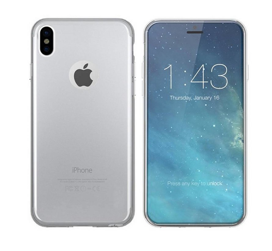 iPhone Xr Siliconen Hoesje Transparant - CoolSkin3T
