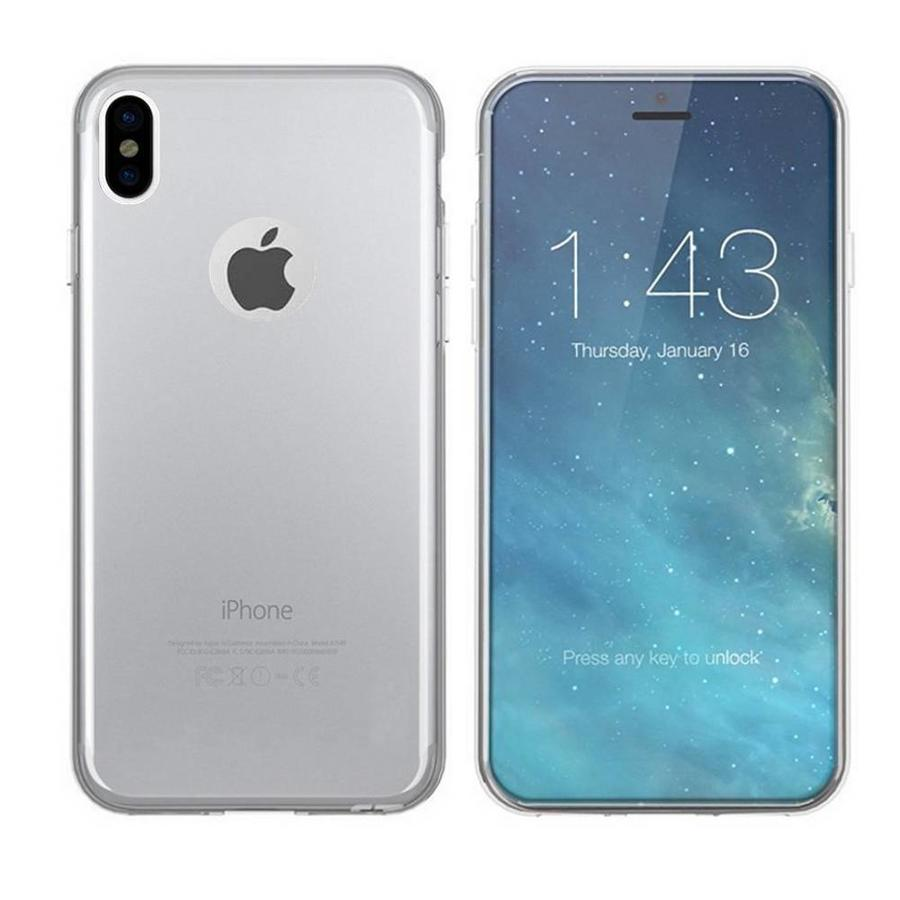 Hoesje CoolSkin3T voor Apple iPhone Xs Max Transparant Wit