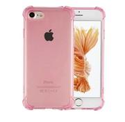 Colorfone iPhone 8 Plus en 7 Plus Hoesje Transparant Roze - Shockproof