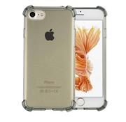 Colorfone iPhone 8 Plus en 7 Plus Hoesje Transparant Zwart - Shockproof