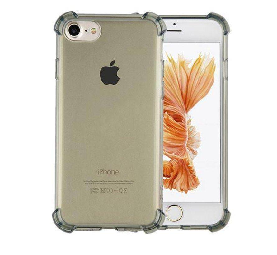 iPhone 8 Plus en 7 Plus Hoesje Transparant Zwart - Shockproof
