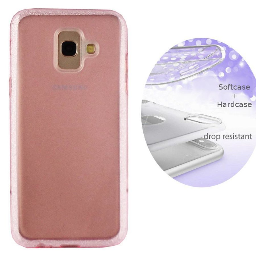 BackCover Layer TPU + PC voor Samsung J6 2018 Roze
