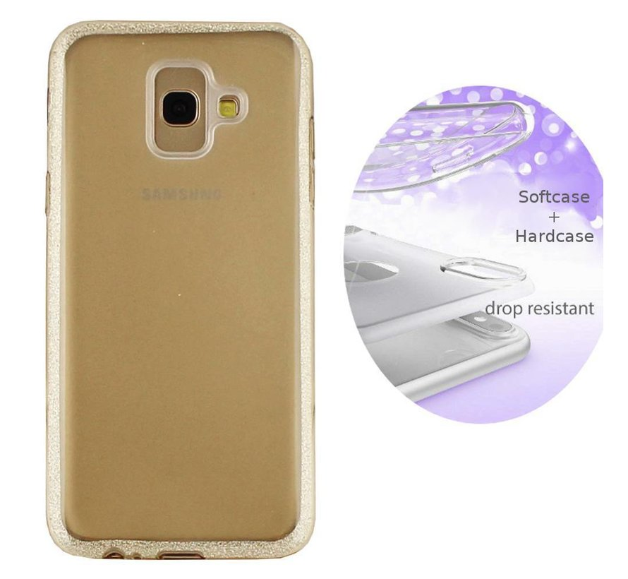 BackCover Layer TPU + PC voor Samsung J6 2018 Goud