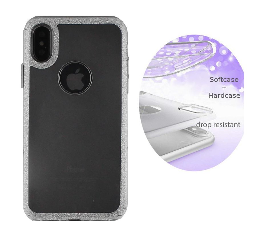 BackCover Layer TPU + PC Apple iPhone X - Xs Zilver
