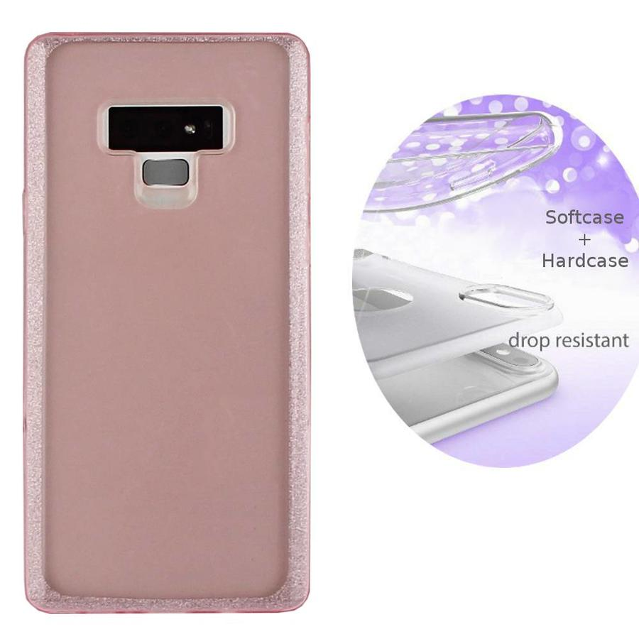 BackCover Layer TPU + PC voor Samsung Note 9 Roze