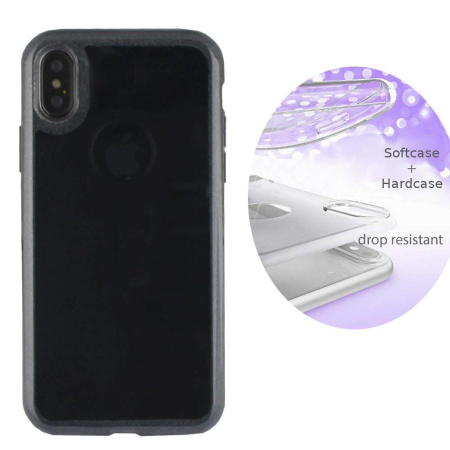 BackCover Layer TPU + PC Apple iPhone Xr Zwart