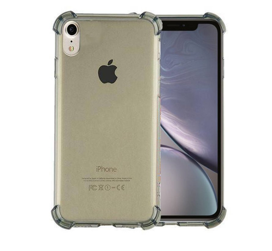 Backcover Shockproof TPU 1.5mm Apple iPhone Xs Max Transparant Zwart
