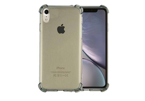 Backcover Shockproof TPU 1.5mm iPhone Xr Transparent Black