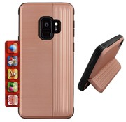 Colorfone Samsung S9 Plus Case Pink Gold - Card Stand