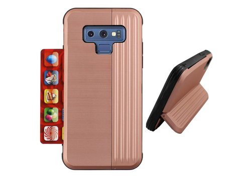 Card Stand Samsung Note 9 Rose Goud