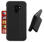 Colorfone Samsung A6 Plus 2018 Case Black - Card Stand