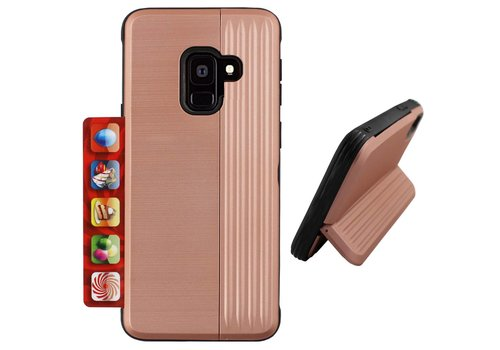 Card Stand Samsung A6 Plus 2018 Rose Goud