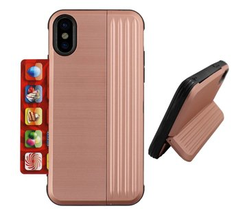 Colorfone Card Stand iPhone Xs Max Rose Goud