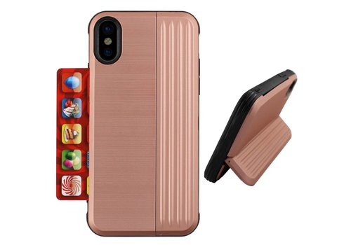Card Stand iPhone Xs Max Rose Goud