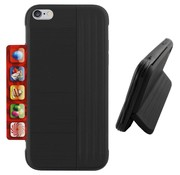 Colorfone iPhone 8 Plus and 7 Plus Case Black - Card Stand