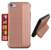 Colorfone iPhone 8 Plus and 7 Plus Case Pink Gold - Card Stand