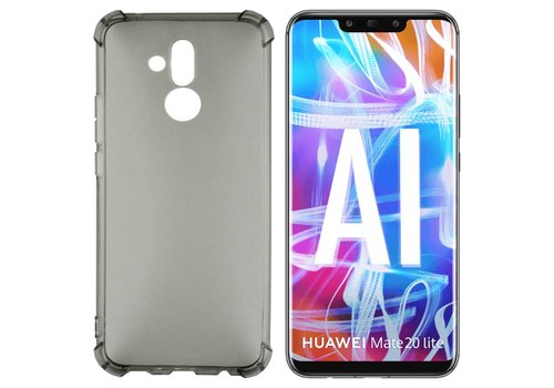 Backcover Shockproof TPU 1.5mm Mate 20 Lite Transparant Zwart