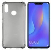 Colorfone Huawei P Smart Plus en Nova 3i Hoesje Transparant Zwart - Shockproof
