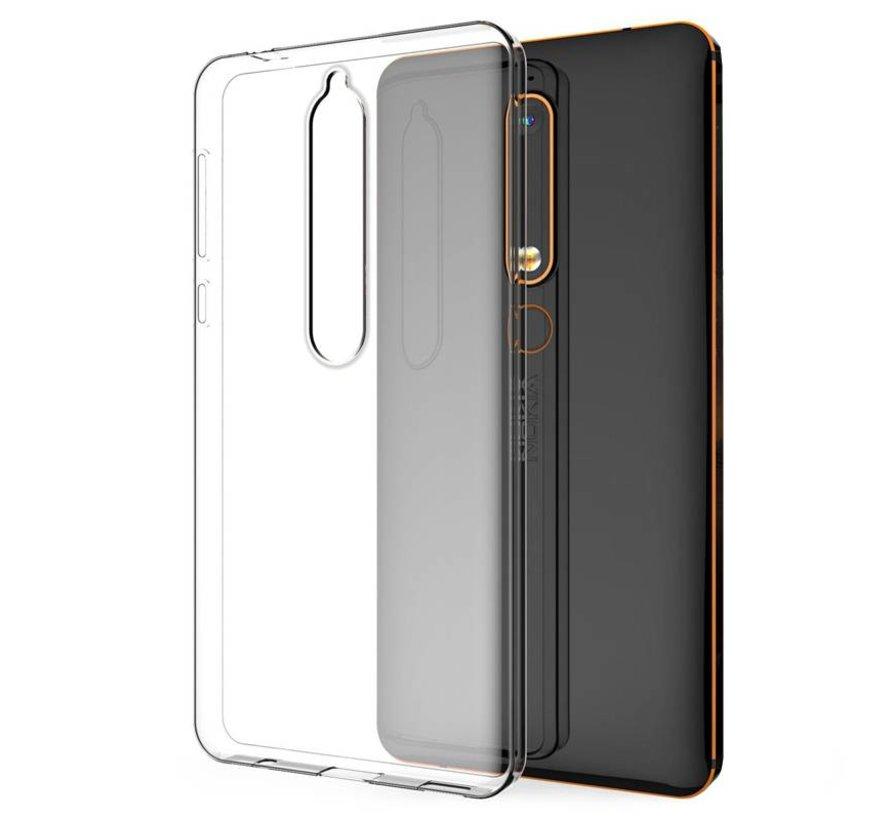 Nokia 6.1 Siliconen Hoesje Transparant - CoolSkin3T