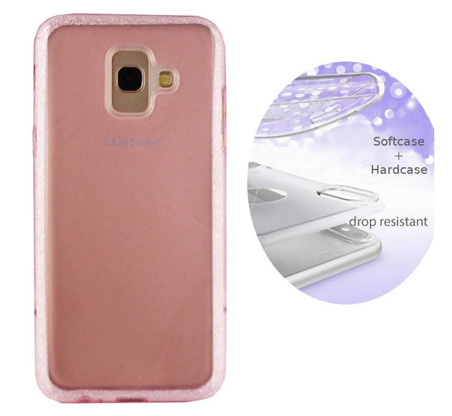 BackCover Layer TPU + PC voor Samsung J4 Plus Roze
