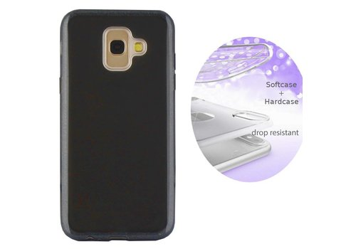 BackCover Layer Samsung J6 Plus Zwart