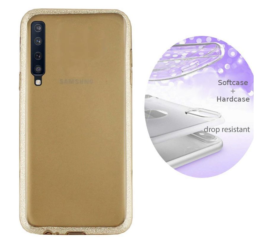 BackCover Layer TPU + PC voor Samsung A7 2018 Goud