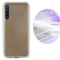 BackCover Layer TPU + PC voor Samsung A7 2018 Zilver
