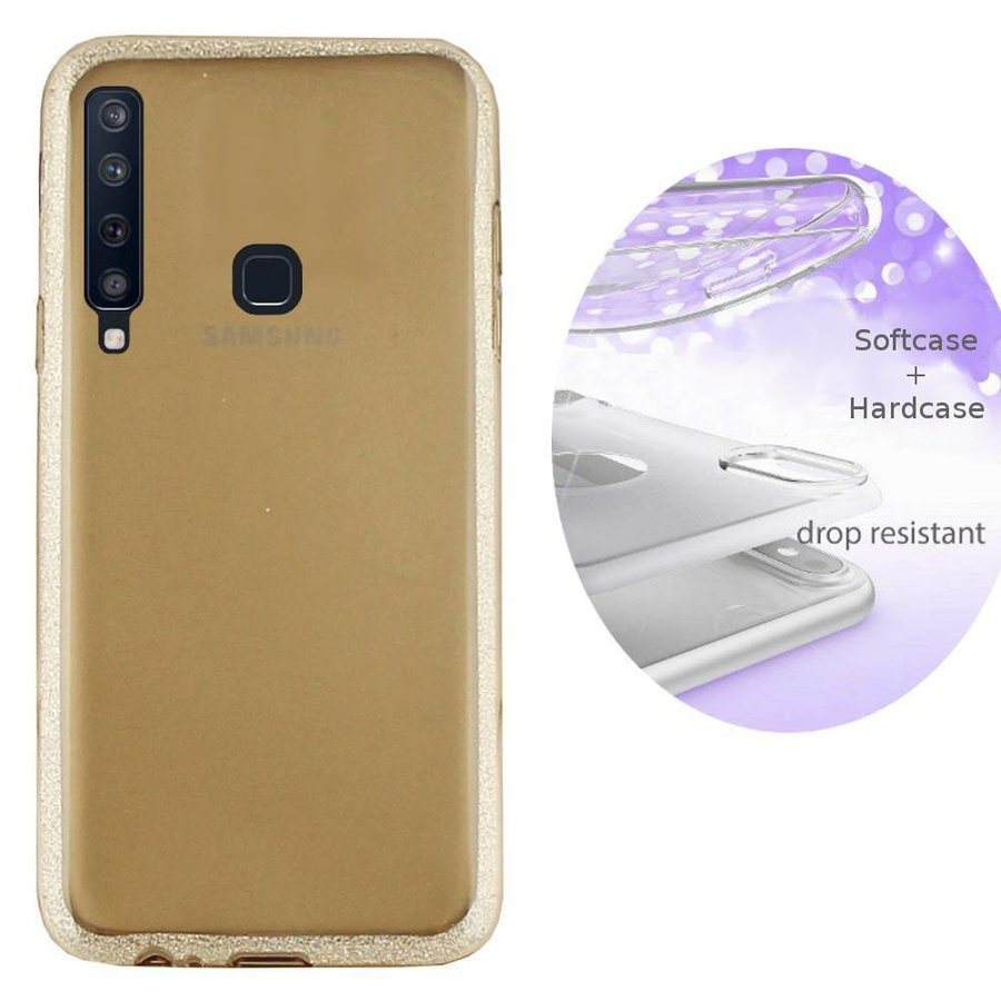 BackCover Layer TPU + PC voor Samsung A9 2018 Goud