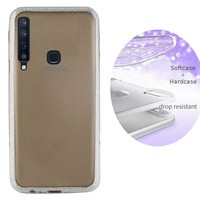 BackCover Layer TPU + PC voor Samsung A9 2018 Zilver