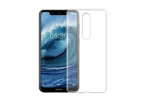 CoolSkin3T Nokia 5.1 Plus Transparant Wit