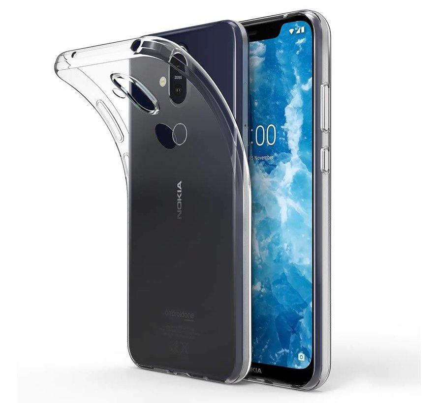 Nokia 8.1 Siliconen Hoesje Transparant - CoolSkin3T