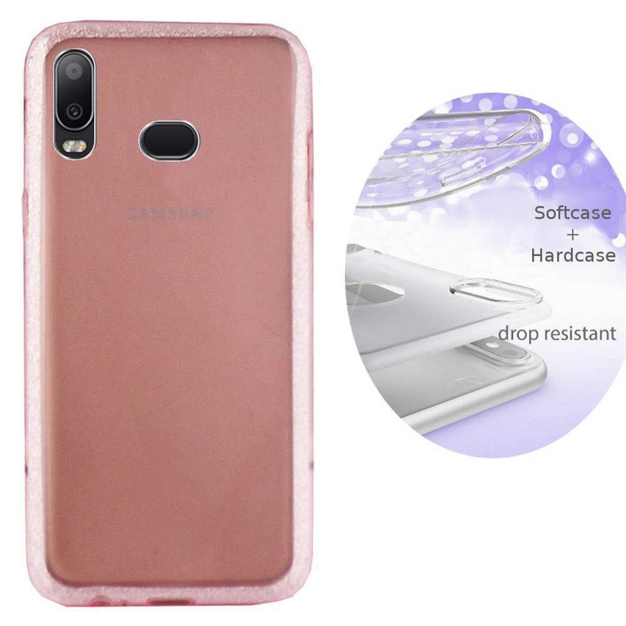 BackCover Layer TPU + PC Samsung A6s Pink