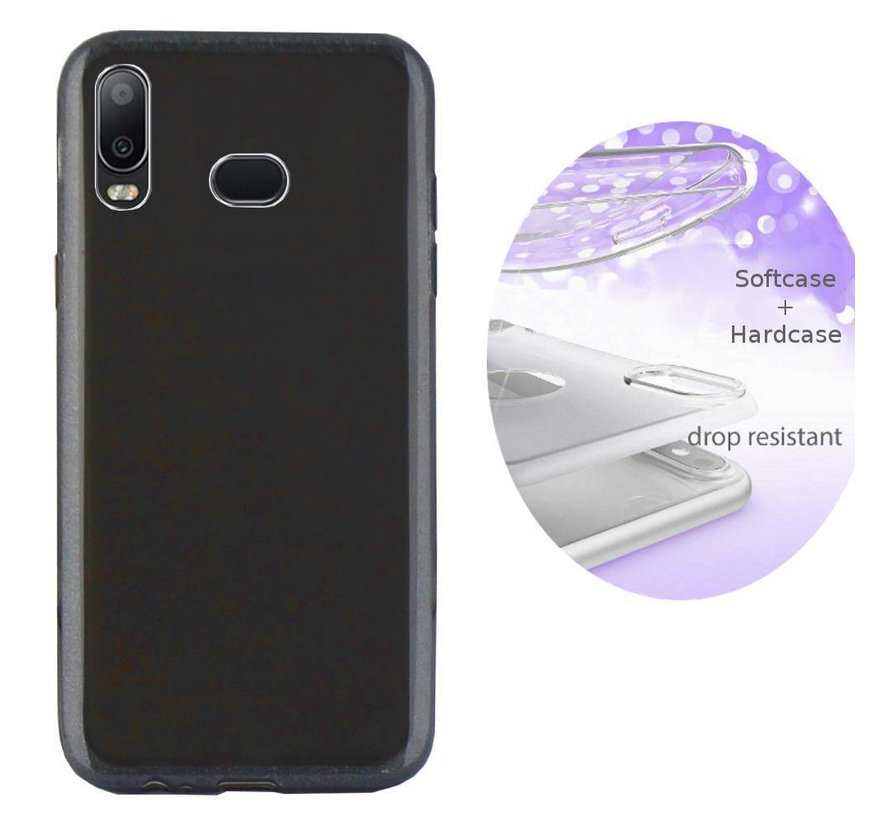 BackCover Layer TPU + PC voor Samsung A6s Zwart