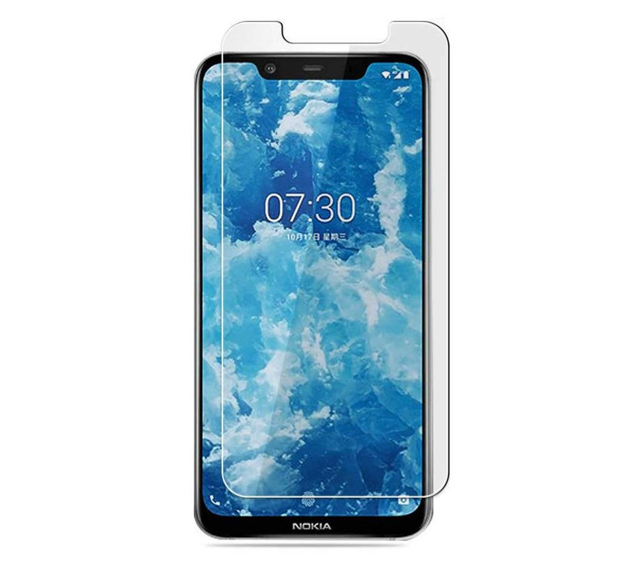 Nokia 8.1 Screenprotector - Tempered Glass 9H
