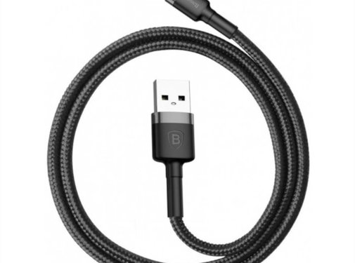 Baseus USB Lightning Kabel 2M Zwart+Grijs