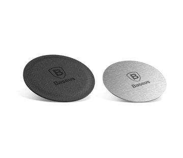 Baseus Magneet plaatjes voor magneet telefoonhouder auto - 2 stuks zilver en zwart