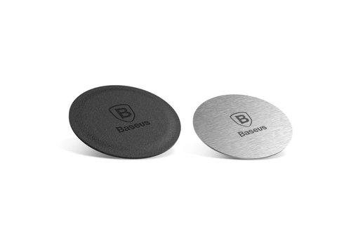 Magneet plaatjes voor magneet telefoonhouder auto - 2 stuks zilver en zwart