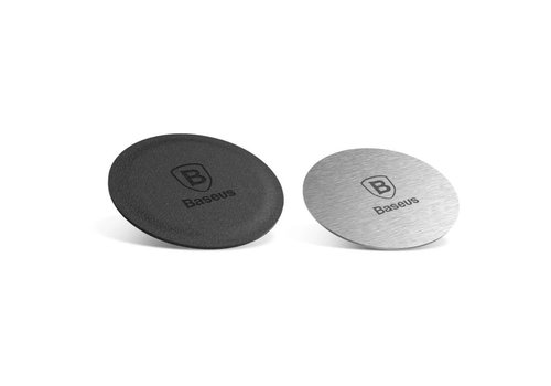 Magnet plaque for Magnet Phoneholder Car - 2 pieces Silver and Black