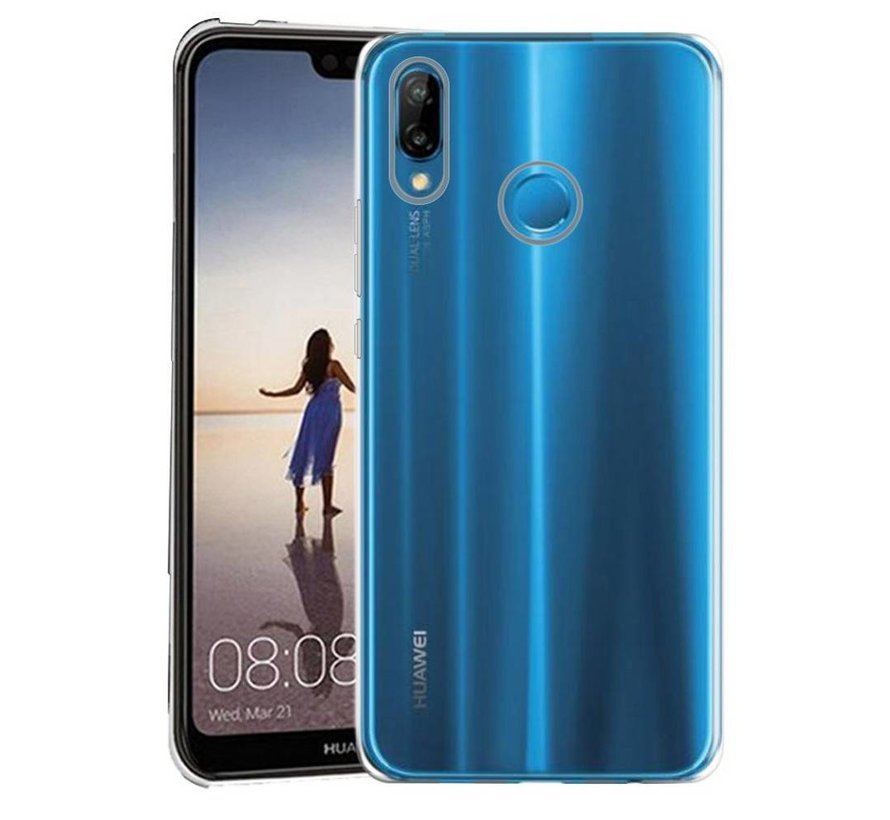 Huawei P30 Lite Siliconen Hoesje Transparant- CoolSkin3T