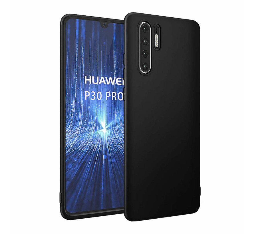 Huawei P30 Pro Siliconen Hoesje Zwart - CoolSkin Slim