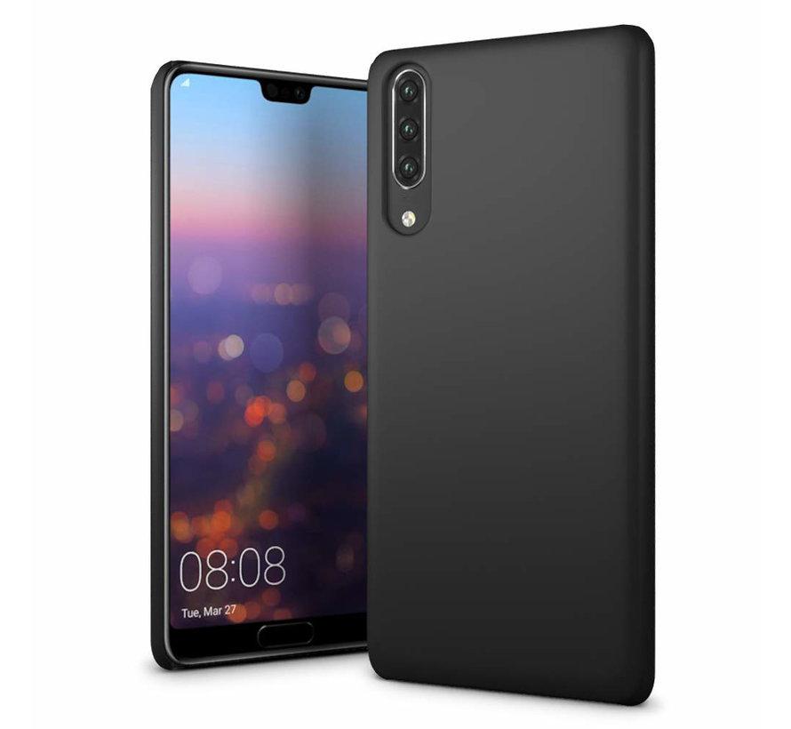 Huawei P30 Siliconen Hoesje Zwart - CoolSkin Slim