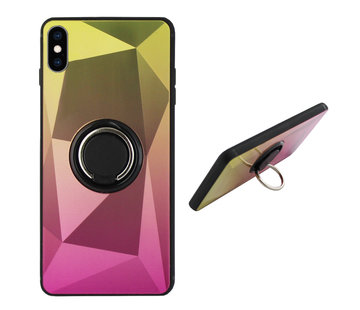 Colorfone BackCover Ring Aurora iPhone Xs Max Goud+Roze
