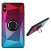 Colorfone BackCover Ring / Magneet Aurora iPhone Xs Max Roze+Blauw