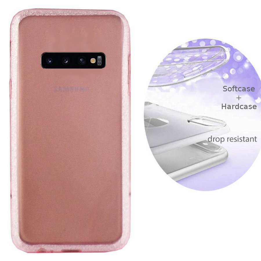 BackCover Layer TPU + PC voor Samsung S10E Roze