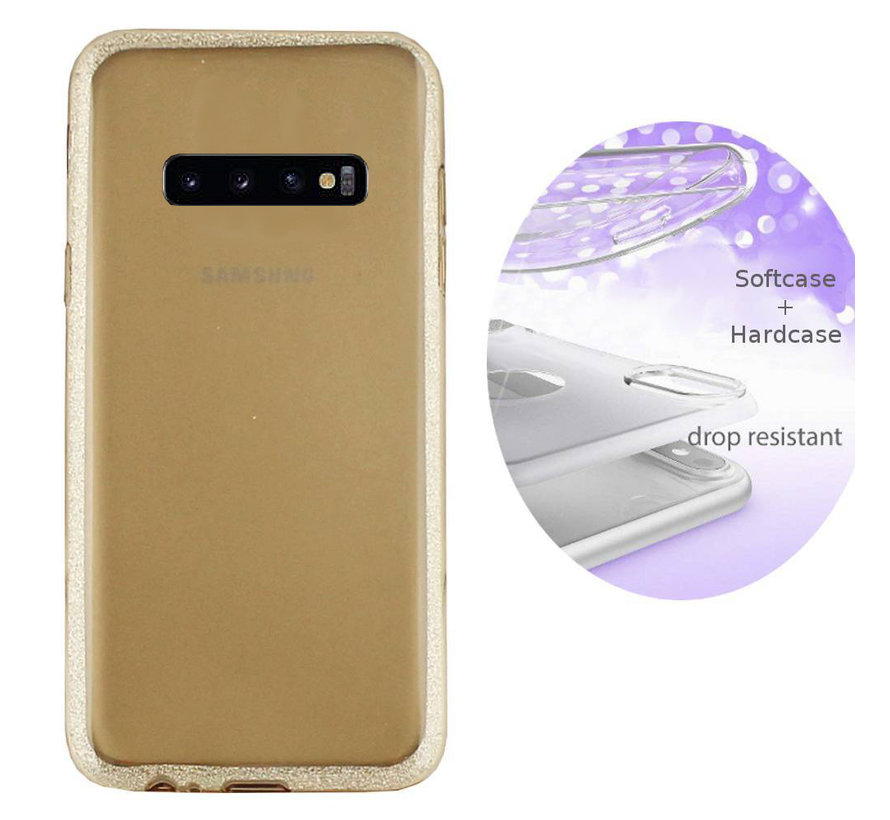BackCover Layer TPU + PC voor Samsung S10 Plus Goud