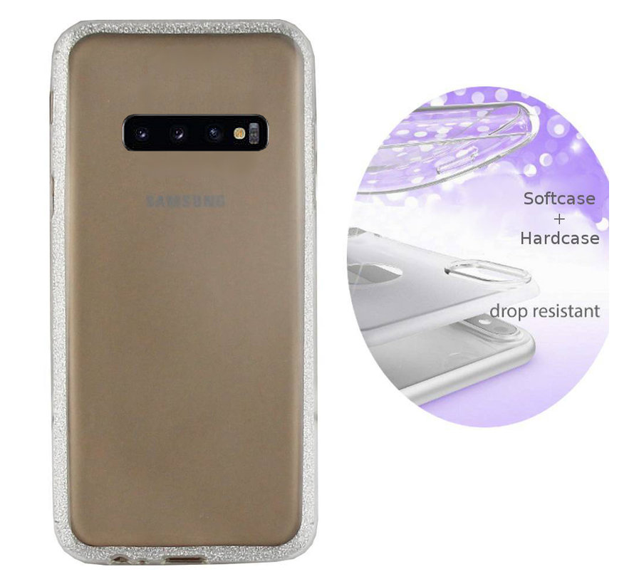 BackCover Layer TPU + PC voor Samsung S10 Plus Zilver